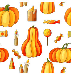 halloween seamless pattern design elements for vector image vector image