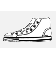 Hand drawn sketch of sport shoes vector