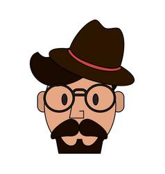 Hipster or vintage man vector