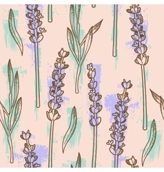 Lavender seamless background vector image