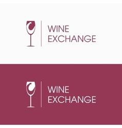 Logo wine and arrow vector image vector image
