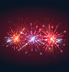 new year multicolored fireworks with sparks and vector image vector image
