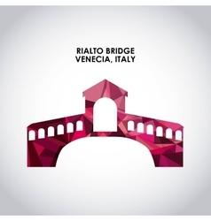Rialto bridge icon italy culture design vector