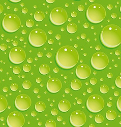Seamless green pattern with water drops vector image vector image