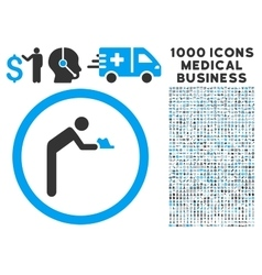 Servant icon with 1000 medical business symbols vector