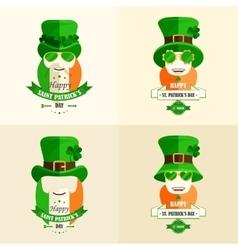 Set Lettering St Patricks Day vector image vector image