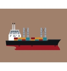 Ship cargo container maritime transport vector