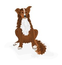 Sitting-dog vector