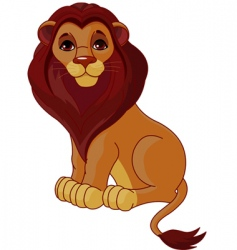 Sitting lion vector