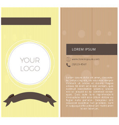 Textured business card vector