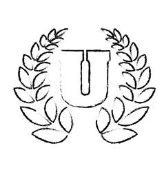 University emblem icon image vector