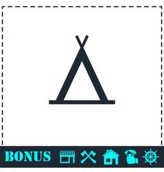 Wigwam icon flat vector image