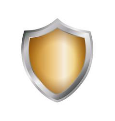 Empty shield emblem vector