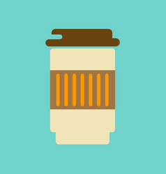 Flat icon on background coffee to go caffeine vector
