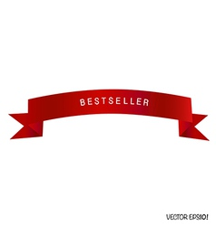 Red ribbon white background vector