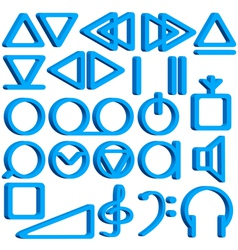 Recorder symbols set vector