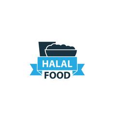 Halal colorful icon symbol premium quality vector