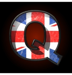 Great britain cutted figure q vector