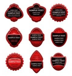set of vintage red labels vector image
