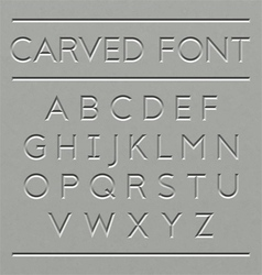 Carved font design vector image
