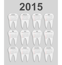 3d dental calendar 2015 year vector