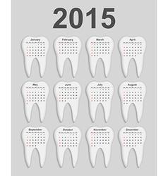 3d dental calendar 2015 year vector