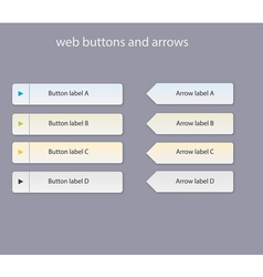Web buttons with light colors vector
