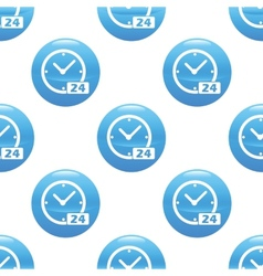 Clock 24 sign pattern vector