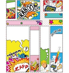 Comic book style banners in sizes 88 x 31 468 x 60 vector