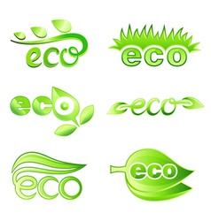 ecology design elements vector image