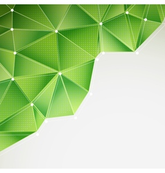 Green abstract triangles vector