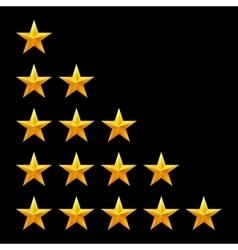 Rating stars set web or mobile user feedback vector