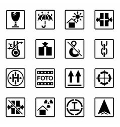 Marking of cargo icon set vector