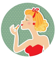 petro nice woman vector image