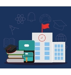School design education icon colorfull vector