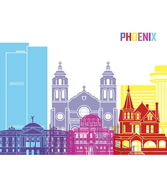 Phoenix skyline pop vector