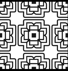 abstract art deco black geometric ornamental vector image vector image
