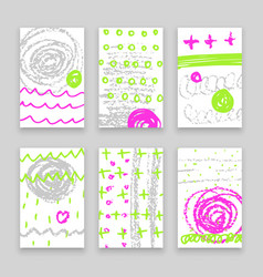 abstract hand drawn banners vector image