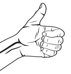 Autostoperski prst vector image vector image