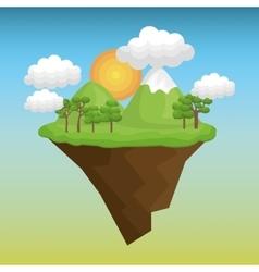 Beautiful landscape background icon vector