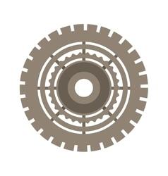 brown silhouette gear wheel icon vector image