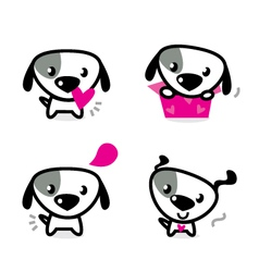 Cute valentine dogs vector