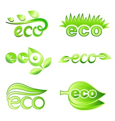 ecology design elements vector image