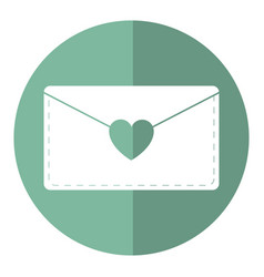 email envelope message love shadow vector image vector image