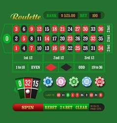 European Roulette vector image