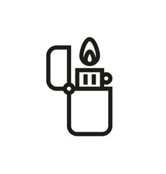 fire lighter icon on white background vector image