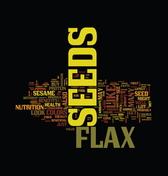Flax seed eh text background word cloud concept vector