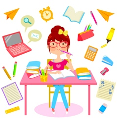happy school life vector image vector image