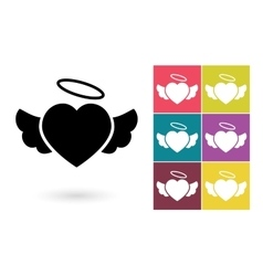 Heart icon or heart pictogram vector