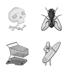 History trade and other monochrome icon in vector